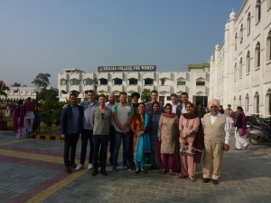 The Australian Group in front of Khalsa College for Women
